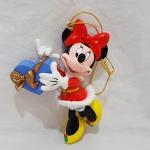 Minnie Mouse Disney Christmas Ornaments Resin 3 inches 1996 Heart Box Ho... - $10.78