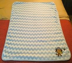 Carter's Child of Mine Boys Appliqué Pilot Monkey Baby Stroller Blanket - $34.65