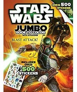 Bendon Inc. Star-Wars Giant Book to Color with Stickers-- Over 500 Stickers - $9.65