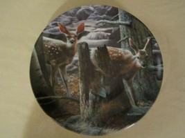 FAWN DEER collector plate KEVIN DANIEL Listening WOODLAND INNOCENTS #4 - $19.95