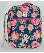 Mary Square 6227 Vintage Floral Bible Cover Handle Pocket Hot Pink Insid... - $23.00