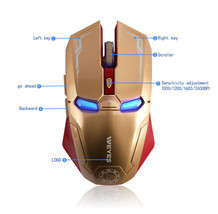 Mouse Iroman Wireless Optical Mice Laptop Usb 4ghz Receiver Gaming Mac C... - $564,93 MXN