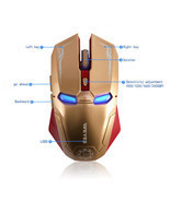 Mouse Iroman Wireless Optical Mice Laptop Usb 4ghz Receiver Gaming Mac C... - £21.58 GBP