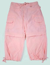 LIMITED TOO PINK CONVERTIBLE ADJUSTABLE LENGTH CROPPED PANTS SHORTS GIRL... - $14.84
