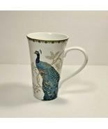 """222 Fifth Eliza Teal Porcelain Fine China Coffee Cup Mug 6 1/4"""" Flowers,... - $15.88"""