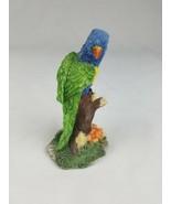 Macaw parrot bird figurine resin sitting on tree home decor - $24.01