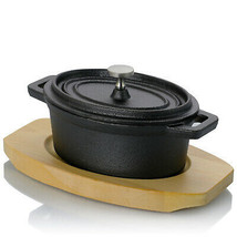 Gibson Home Campton 0.35 Quart Mini Oval Cast Iron Casserole Dutch Oven ... - $47.08