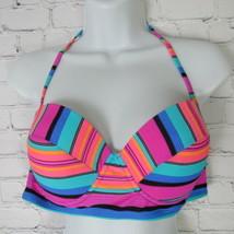 Xhilaration Top Bikini Mujer XL Rosa Azul Verde - $35.51