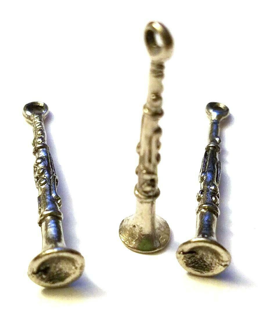 CLARINET FINE PEWTER CHARM PENDANT