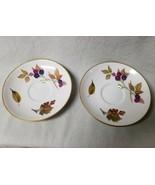 Set 2 Royal Worcester Evesham Bread Butter Dessert Plates Gold Tea Cup F... - $13.57