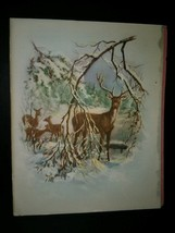 Winter Deer Snow Scene Vintage Christmas Card - $4.00