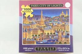 Paris City of Lights Eric Dowdle Jigsaw Puzzle 1000 pcs France Eiffel Tower - $14.03