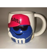 M&Ms Blue Coffee Mug Player Hat Sunglasses Large Cup By Galerie RETIRED ... - $14.99