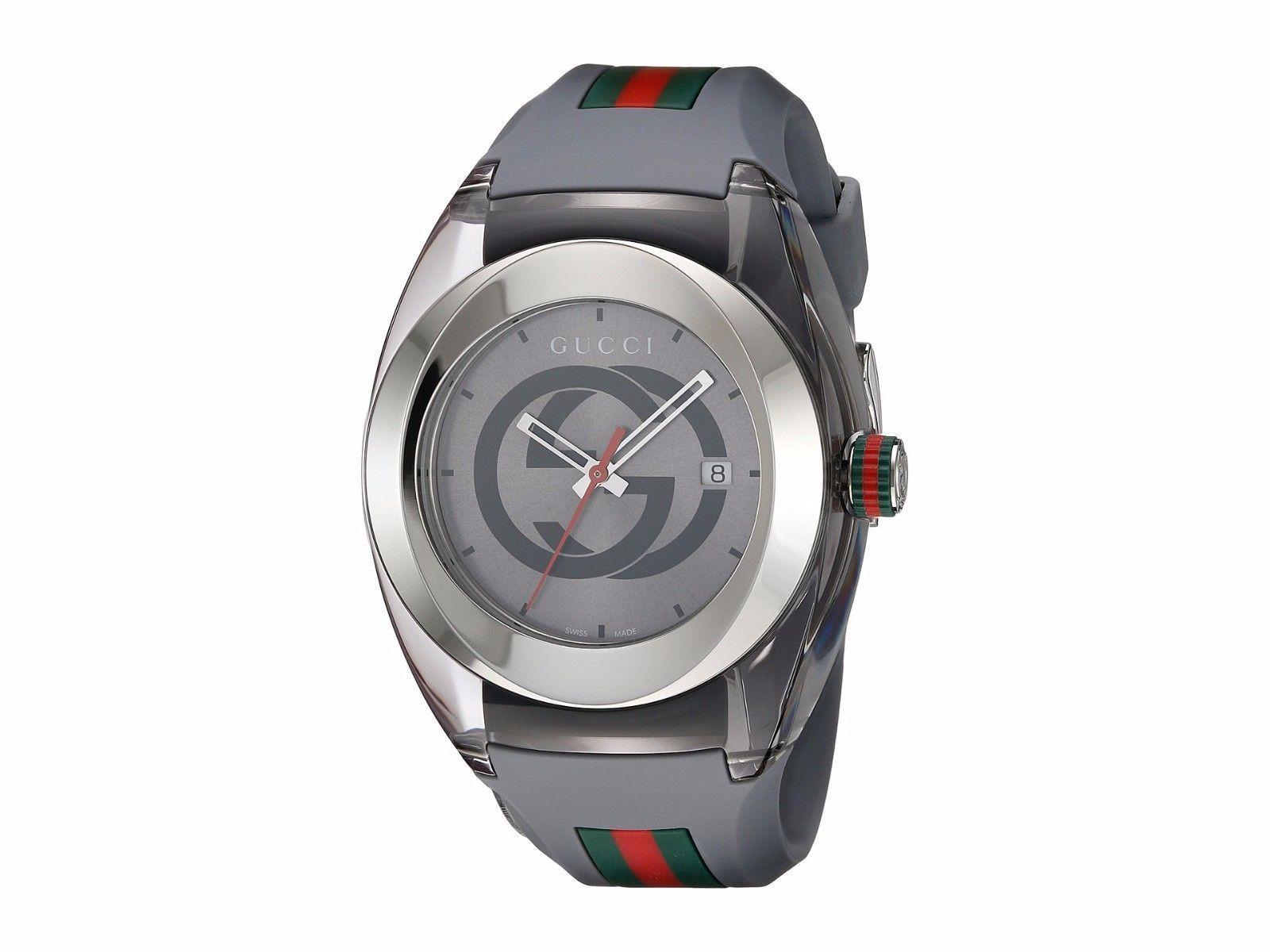 13fa22eade2ce Gucci Sync XXL Gray Rubber Gray Dial Watch YA137109 -  290.00