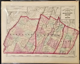 1876 antique SOMERSET BEDFORD FULTON MAP from Atlas of Pennsylvania - $42.50