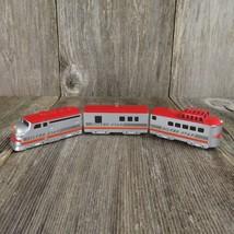 Vintage Train Christmas Ornament Silver Star Die Cast Hallmark 1992 Red - $39.99