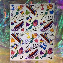 Lisa Frank Complete Sticker Sheet S250HEARTS HIGH HEELS MUSIC NOTES ROSES