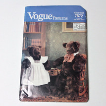 Vogue 7572 640 Mommy Daddy Stuffed Bear Sewing Pattern Linda Carr Uncut ... - $14.99