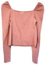 Wild Fable Women's Mauve Pink Square Neck Crop Long Sleeve Shirt Size S image 2