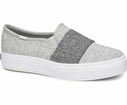 Keds WF58505 Women's Shoes Triple Bandeau Jersey Lt Gray, 8.5 Med - $39.55