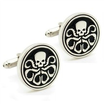 HYDRA CUFFLINKS Super Villain Comic w GIFT BAG Pair S.H.I.E.L.D. Avenger... - $8.88
