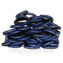 100 Thin Blue Line Wristbands - Police Law Enforcement Awareness Bracelet Bands - $48.39