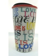 STARBUCKS LOVE IS Travel Coffee Cup 12 Ounce - $16.00
