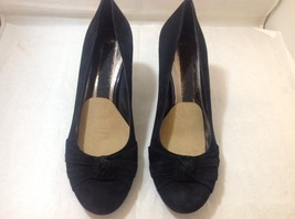 Women's Black Suede High Heel Shoes Sz 9M