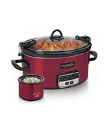 Crock Pot Free Slow Cooker Cookbook Plus Little Dipper Warmer Fondue Sma... - $55.44