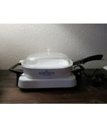 "Corning Ware 10"" Electromatic Skillet P-12-ES Dish Lid Blue Cornflower P... - $69.99"