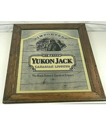 Yukon Jack Canadian Whiskey Liquor Bar Sign Mirror Wood Framed ULTRA RAR... - $222.22