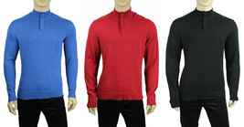 New Mens Alfani Half Zip Lightweight Solid Pullover Sweater $69 - $18.99