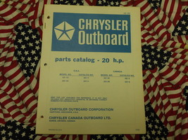 1972 Chrysler Outboard 20 HP Parts Catalog 202 HE H BE B 203 - $19.79