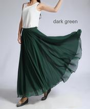Women Long MAXI Chiffon Skirt AQUA-BLUE Chiffon Maxi Skirt Summer Wedding Skirt image 13