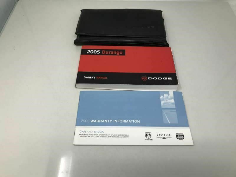 2005 Dodge Durango Owners Manual Case Handbook OEM Z0A252