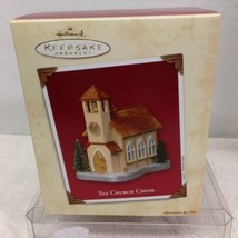 2003 Church Choir Doors Open Hallmark Christmas Tree Ornament MIB Price Tag H3 - $12.38