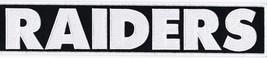 One Raiders 2x12 Sew On Patch Nfl Football Jersey Biker Jacket - $15.99