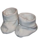Preemie & Newborn White Booties fits Babies  - $8.00