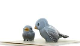 Hagen Renaker Miniature Bluebird Tweety Ma and Chick Ceramic Figurine Set of 2 image 2