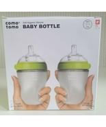Comotomo Baby Bottle, Green, 8 Ounce (2 Count) Green BPA Free New  - $34.65