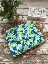 Handmade Kitchen Crochet Dishcloths Blue Green White Crochet Dish Cloth ... - $18.75