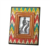 Ikat Chevron Wood Photo Frame 4x6 - $18.46