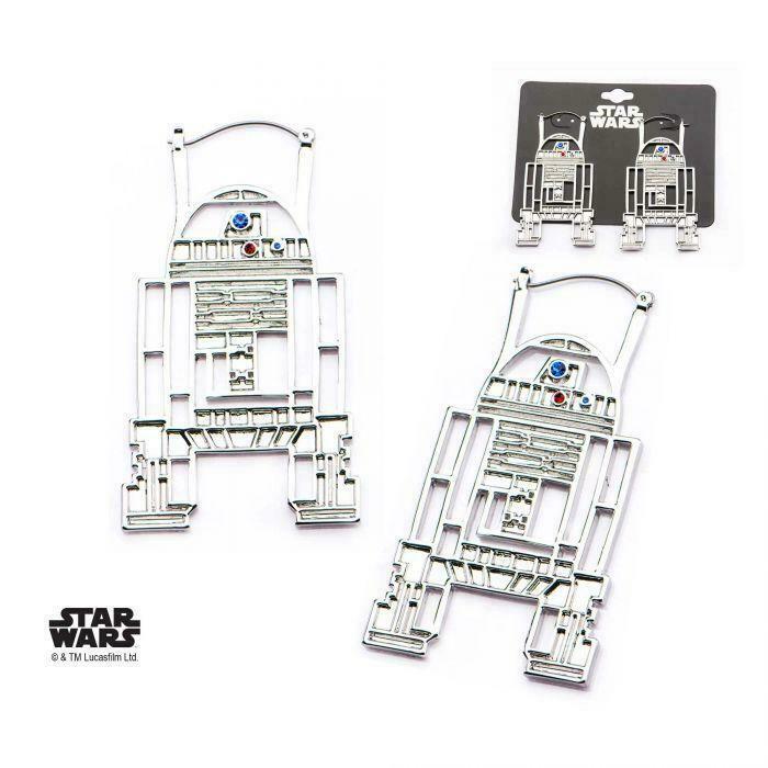 Disney Star Wars Base Metal, Stainless Steel R2-D2 Hanger Earrings - $30.45