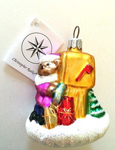 Christopher Radko BEAR MAIL Mailbox Christmas Tree Ornament New Tag ADOR... - $39.46