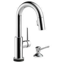 Delta Trinsic: Single Handle Pull-Down Bar/Prep Faucet with Touch - $599.06