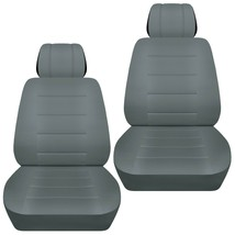 Front set car seat covers fits 2015-2020 Chevy Colorado      solid steel gray - $69.99