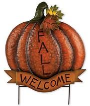 """Sunset Vista Designs Welcome Sign Fall Pumpkin Sculpture with Picks, 22"""" - $17.35"""