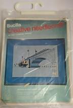 Bucilla Creative Needlecraft / Needlepoint Kit 1957 London Bridge - NIP Vintage - $19.75