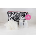 Modella Black & White Zippered Clutch Cosmetic Travel Case Bag Pouch - New - $16.14
