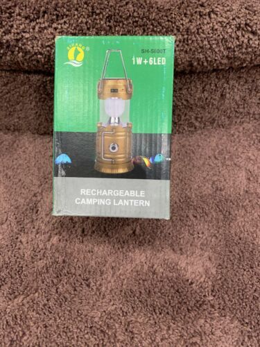KTS  Solar Rechargeable 110V Rechargable Camping Lantern or AA Batterys